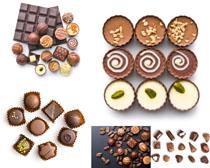 手工巧克力食物摄影高清图片