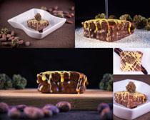 巧克力蛋糕食物拍摄高清图片