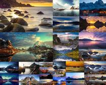 美丽的山水壁纸画摄影高清图片
