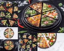 切开的披萨摄影高清图片
