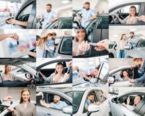 购车情侣人物摄影高清图片