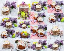 彩蛋与蛋糕摄影高清图片