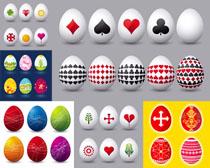 鸡蛋上的图案摄影高清图片