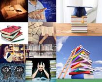 书本学习人物摄影高清图片