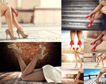 高跟鞋子女子摄影高清图片