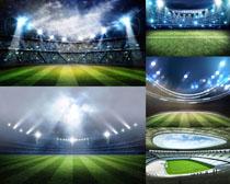 体育比赛足球场拍摄高清图片