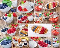 水果与杏仁摄影高清图片