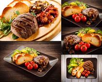 牛肉面包西红柿摄影高清图片