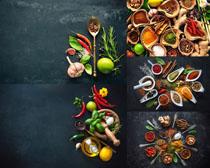 大蒜辣椒油调料摄影高清图片