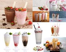 水果巧克力奶茶摄影高清图片