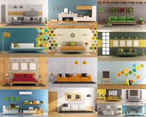 简约风格家具摄影高清图片