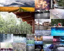雨水风景拍摄高清图片