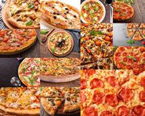 各式披萨美食摄影高清图片
