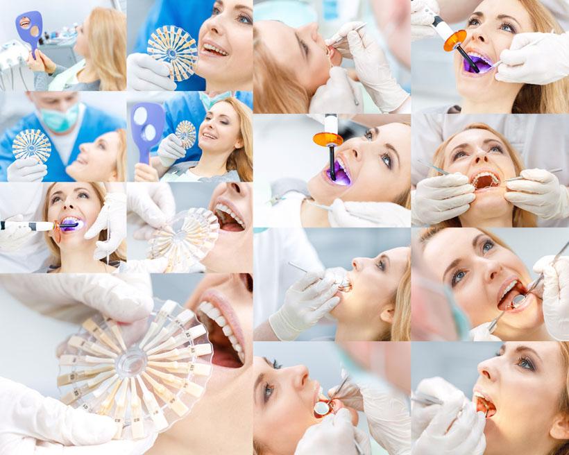 美女牙齿修复摄影高清图片