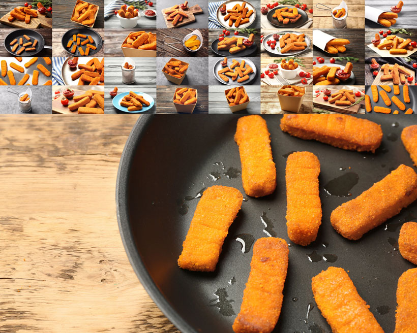 油炸食物拍摄高清图片