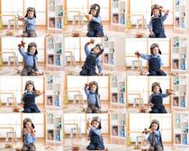儿童飞行员摄影高清图片
