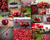 大红樱桃摄影高清图片