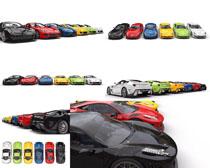 色彩动感跑车摄影高清图片