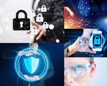 商务数码安全盾摄影高清图片