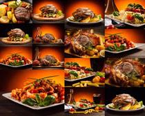 烤肉板栗摄影高清图片