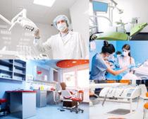 牙科器材与医生摄影高清图片