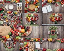 组合蔬菜展示摄影高清图片
