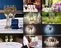 情侣酒杯摄影高清图片