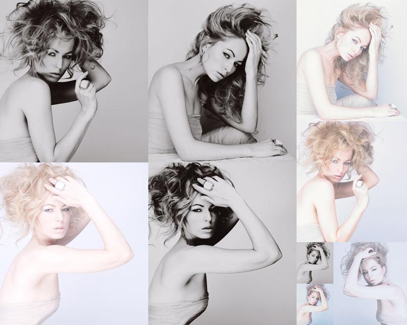 性感女人与发型摄影高清图片
