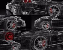 3D绘画汽车摄影高清图片