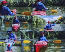 划艇运动女子摄影高清图片