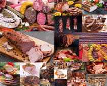 香肠与腊肉摄影高清图片