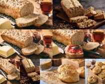 芝麻面包与酱摄影高清图片
