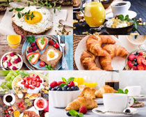 早餐面包水果摄影高清图片