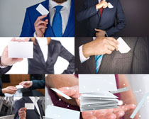 商务男人名片拍摄高清图片
