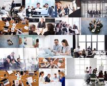 商务会议团队人士摄影高清图片