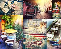 休闲椅子桌子摄影高清图片