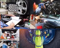 汽车检查保养摄影高清图片