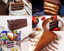 巧克力草莓蛋糕摄影高清图片