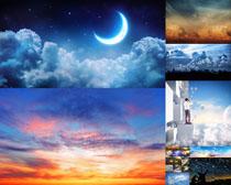 天空夜色风光摄影高清图片