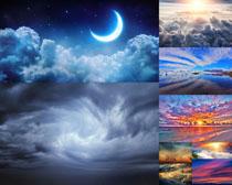 天空云朵夕阳风光摄影高清图片