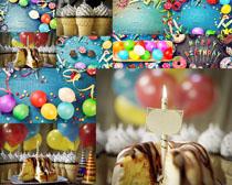 生日布置与蛋糕摄影高清图片