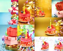 生日蛋糕与礼物摄影高清图片