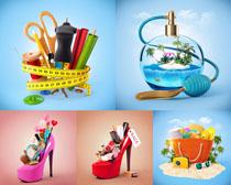 创意展示与高跟鞋摄影高清图片