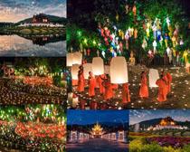 美丽的灯节风景摄影高清图片