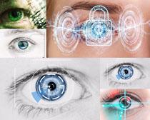 科技与人物眼晴摄影高清图片