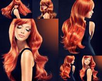 红头发模特美女摄影高清图片