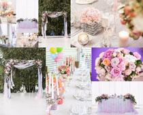 婚礼现场花朵摄影高清图片