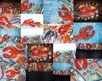 海鲜龙虾摄影高清图片