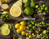 新鲜柠檬摄影高清图片