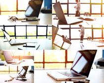 办公室笔记本摄影高清图片